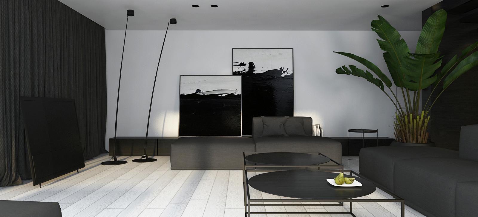 001 mono projektant wnętrz śląsk katowice gliwice nowoczesny salon minimalistyczny