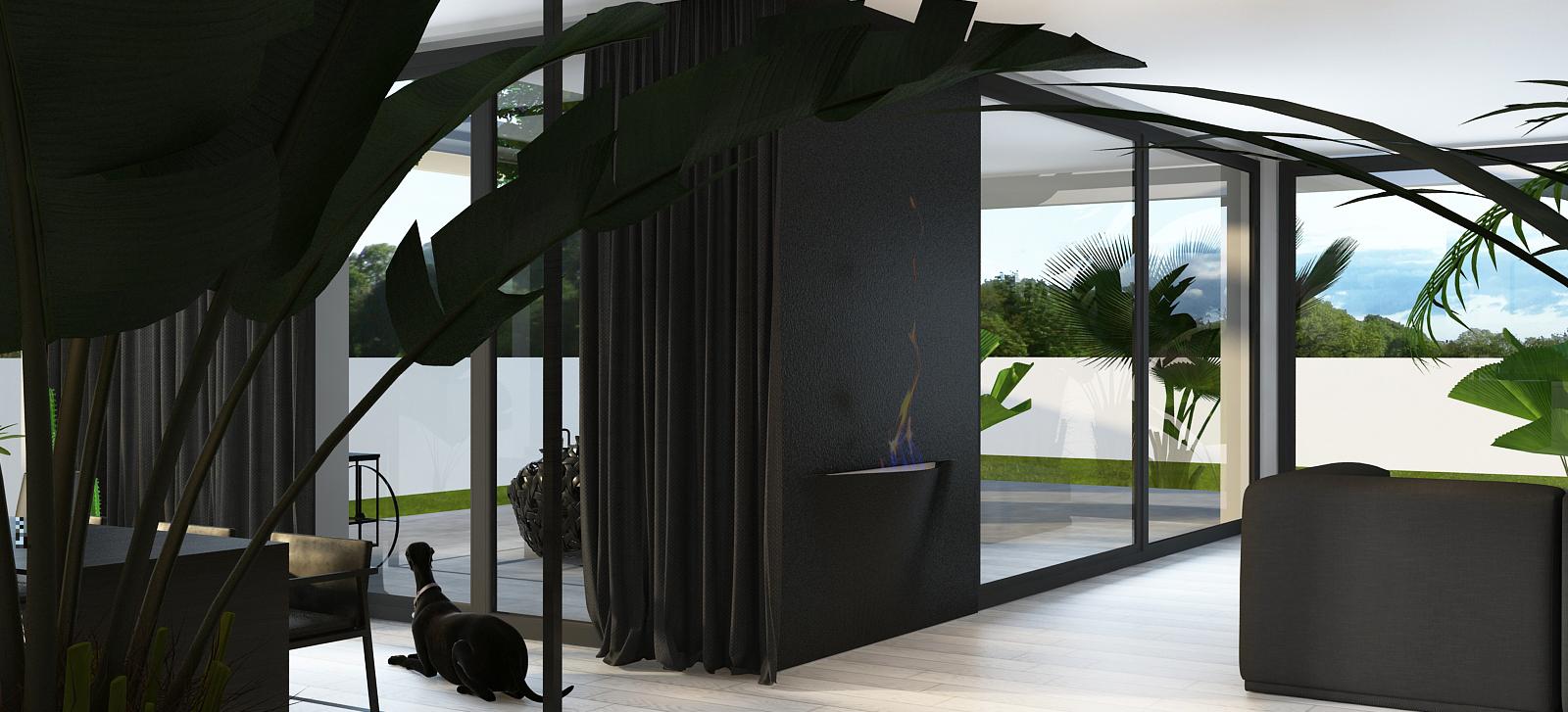 002 mono projektant wnętrz śląsk katowice gliwice nowoczesny salon minimalistyczny