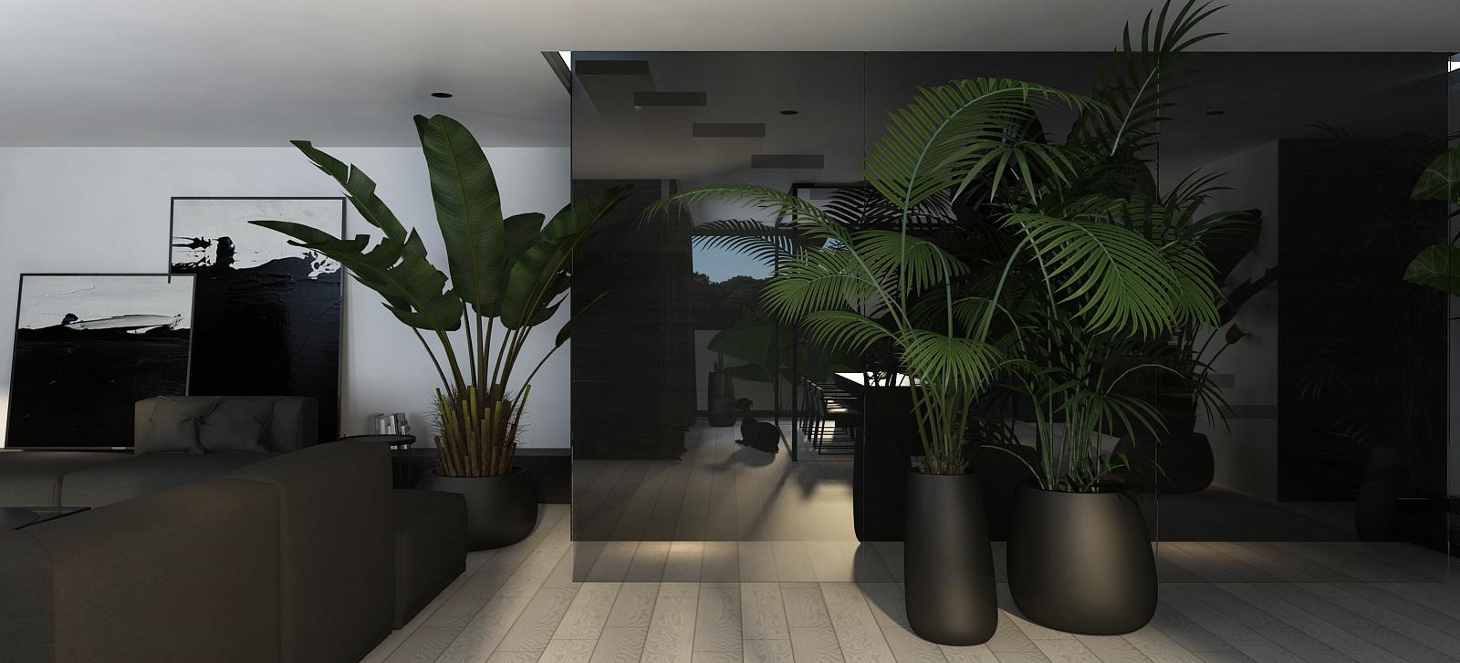 003 mono projektant wnętrz śląsk katowice gliwice nowoczesny salon minimalistyczny