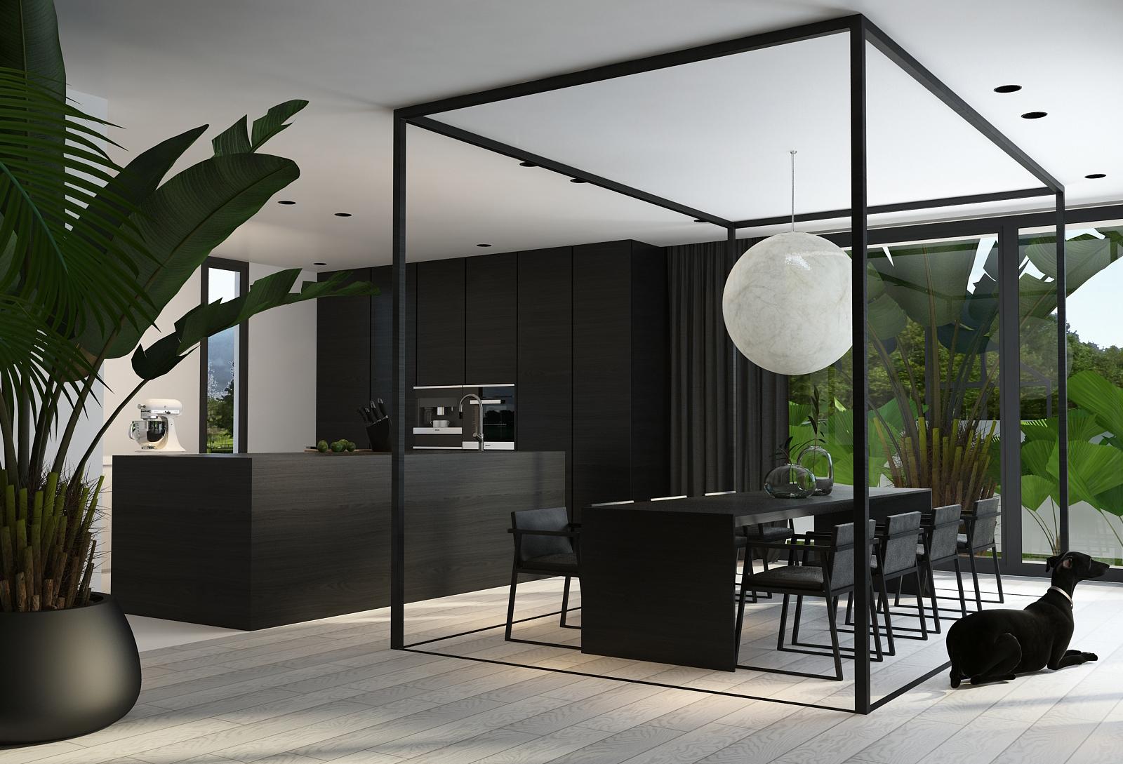 005 mono projektant wnętrz śląsk katowice gliwice nowoczesna jadalnia minimalistyczny