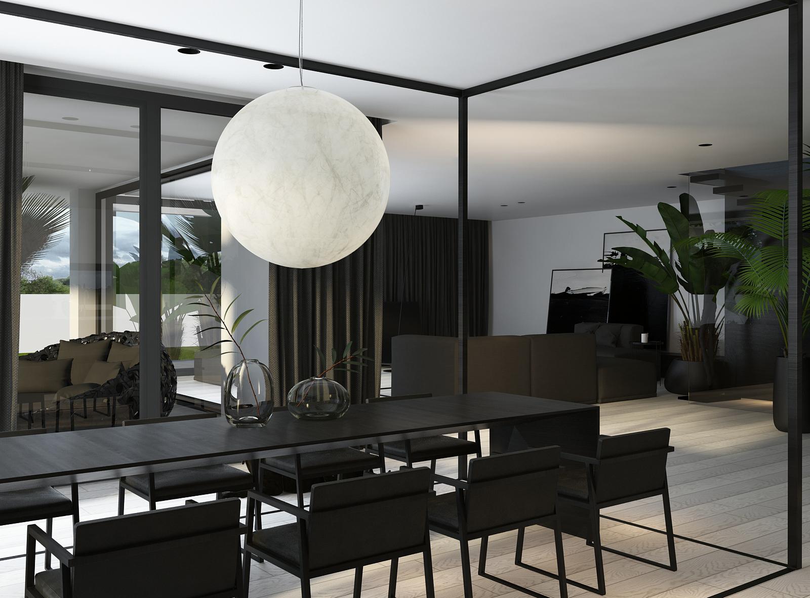 006 mono projektant wnętrz śląsk katowice gliwice nowoczesna jadalnia minimalistyczny