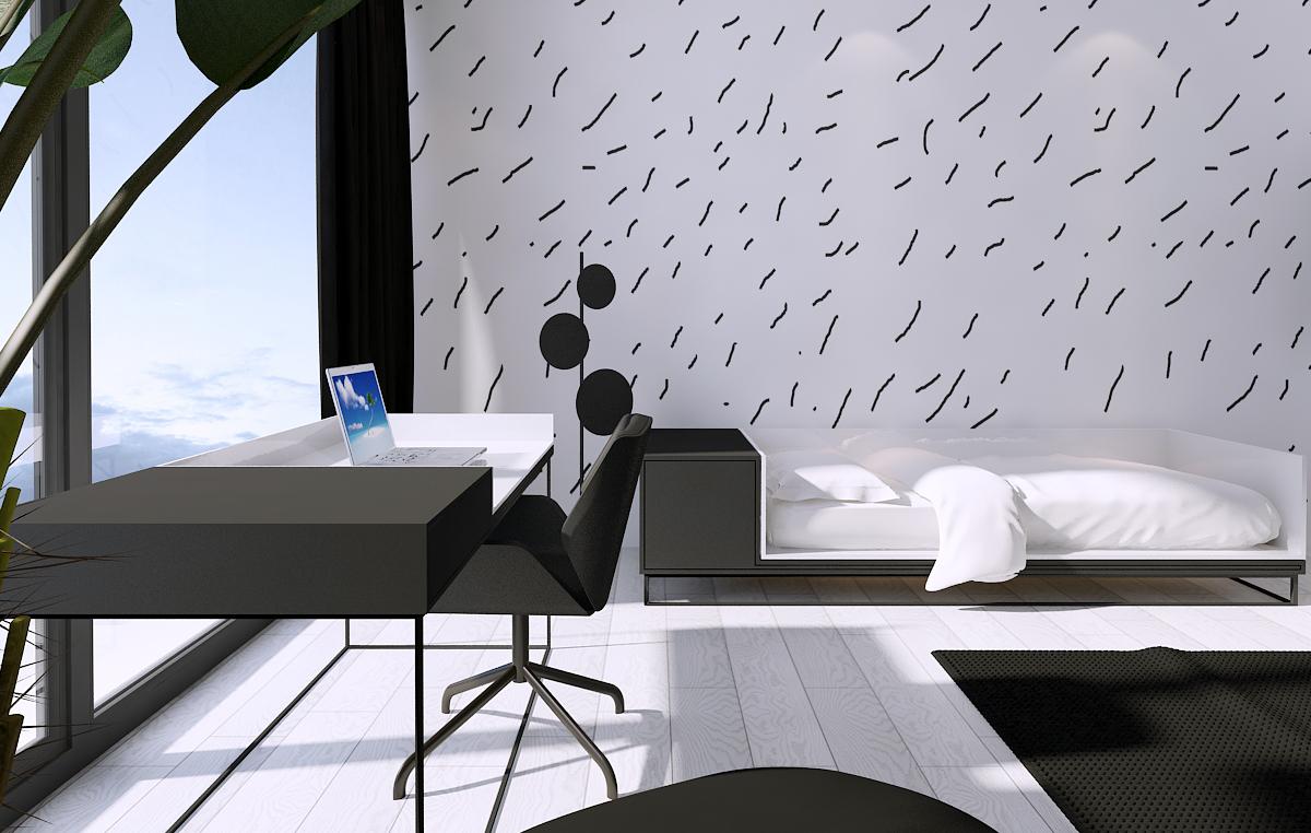 013 mono architekt wnętrz śląsk katowice gliwice nowoczesny pokój dziecięcy minimalistyczny