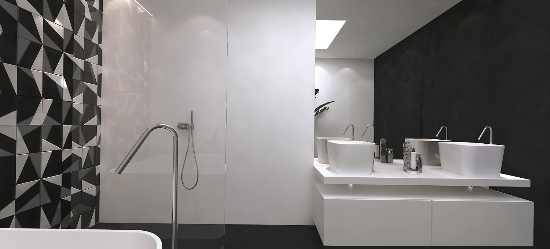 015 mono projektant wnętrz śląsk katowice gliwice nowoczesna łazienka minimalistyczna