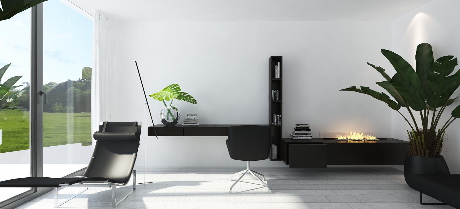 018 mono architekt wnętrz śląsk katowice gliwice nowoczesny pokój gabinet minimalistyczny
