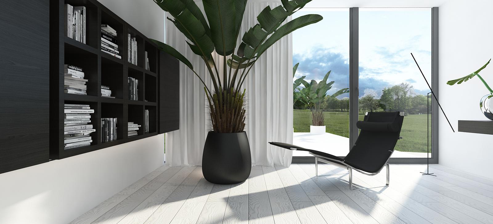 019 mono architekt wnętrz śląsk katowice gliwice nowoczesny pokój gabinet minimalistyczny