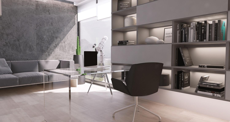 mono projekty wnetrz katowice krakow slask nowoczesne biuro domowe minimalizm