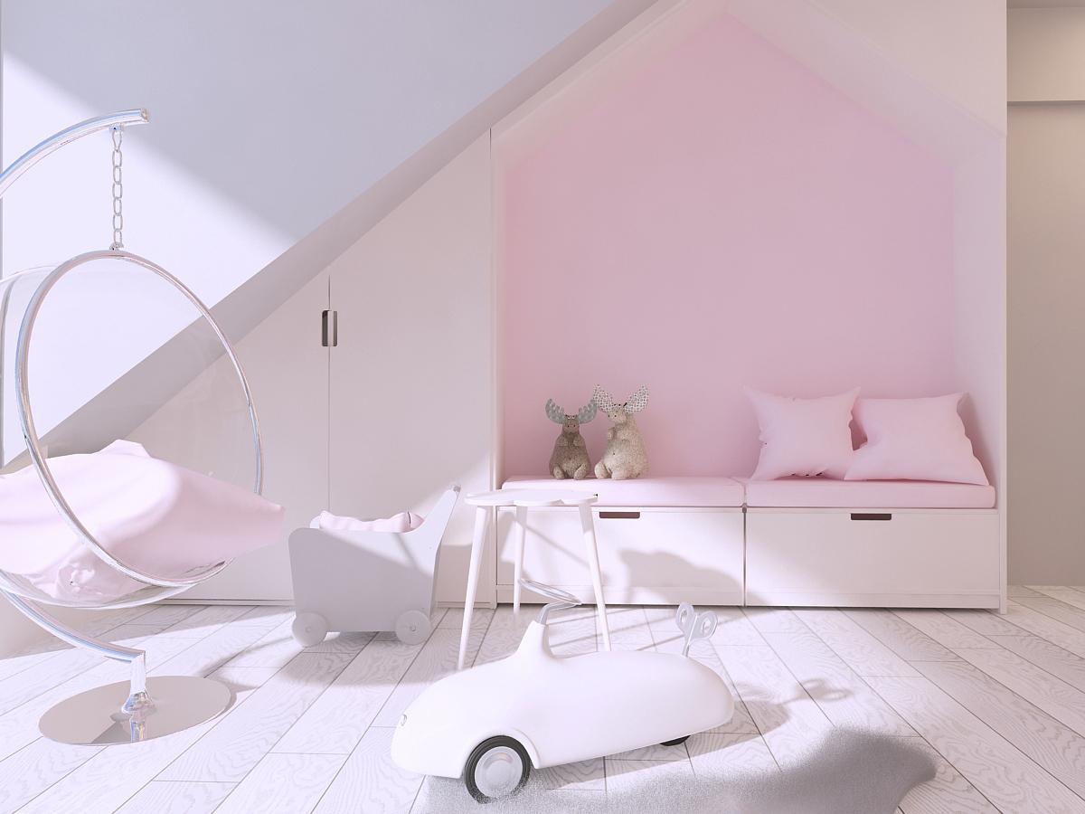 mono aranzacja wnetrz katowice krakow slask nowoczesny pokoj dzieciecy minimalizm