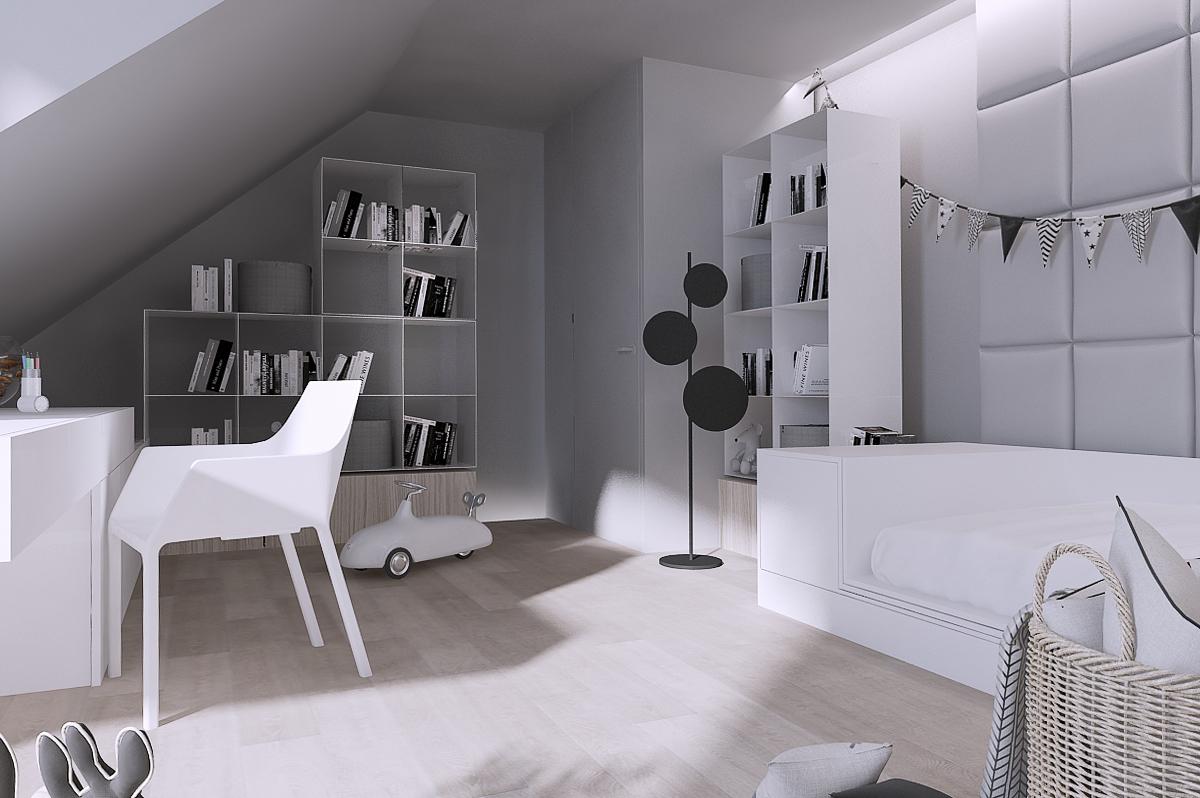 mono projektowanie wnetrz katowice krakow slask nowoczesny pokoj dzieciecy minimalizm