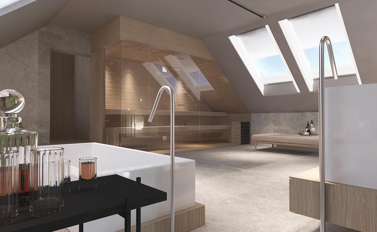 mono projekty wnetrz katowice krakow slask nowoczesna lazienka sauna minimalizm